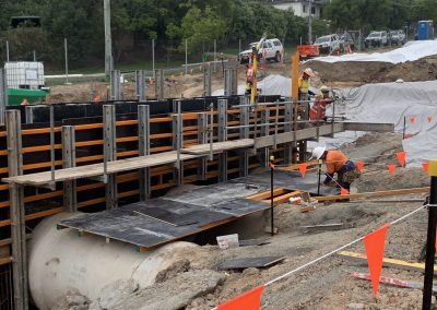 laying of foundation construction