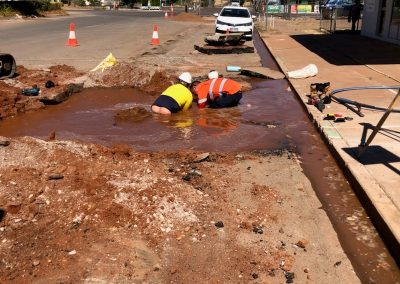 fixing drainage system