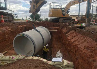 construction underground drainage system